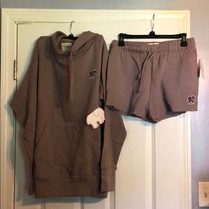 Ivory Ella Oversized Hoodie and Shorts
